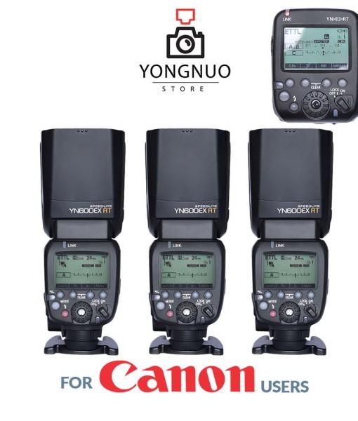 Yongnuo YN-E3-RT + 3x Yongnuo YN600EX-RT kit