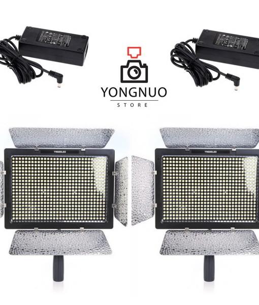 2x Yongnuo YN600L + 2x AC adapters