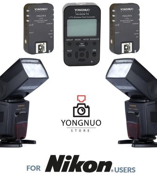 Yongnuo YN622N-TX + 2x YN622N II + 2x Yongnuo YN568EX