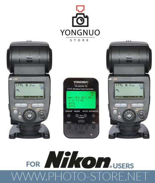 Yongnuo YN622N-TX + 2x YN685 flashes for Nikon