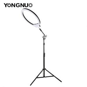 Yongnuo YN608 is huge ring LED light with 50cm diameter which makes it one of the largest ring LEDs on the market. It is equipped with white diffuser panel so the light it produces is even and soft